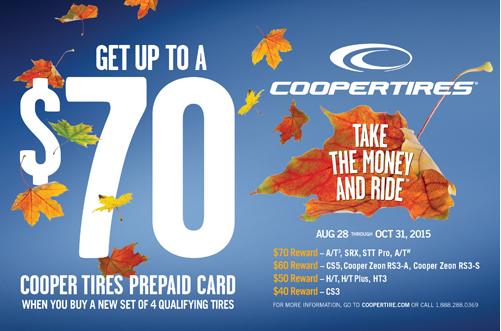 Up To 70 Back On The Purchase Of 4 Cooper Tires Dayton Used Tires