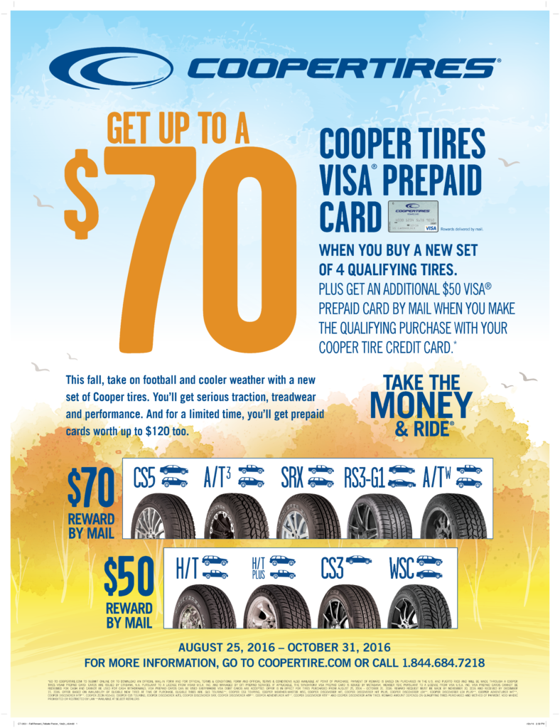 Cooper Tires Take The Money And Ride Fall Event